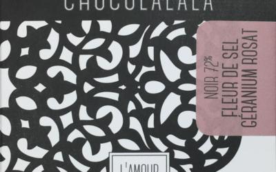 Tablette Noir 72% Fleur de sel Géranium rosat – classique et vrac