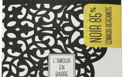 Tablette noir Gomasio-Bergamote 85% – classique et vrac